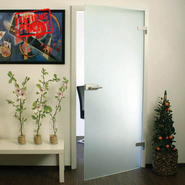 Zimmertüren glas satiniert  Glastür 101TS86 satiniert - Satinato, Glastüren - Glas-Shop24