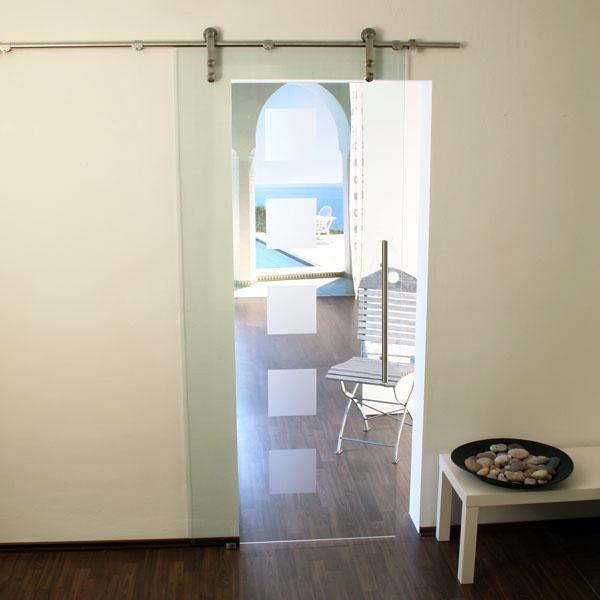 Schiebetür glas  Glasschiebetür-Set 2ES-900 Edelstahl - Glasschiebetüren, Glastüren ...