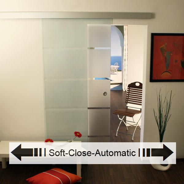 glasschiebet r set 3ag900 soft close automatic glasschiebet ren glas schiebet ren. Black Bedroom Furniture Sets. Home Design Ideas