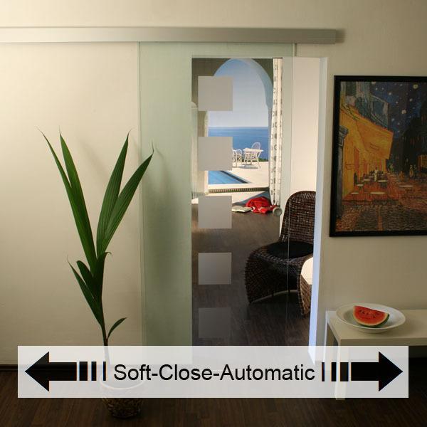 glasschiebet r set 2ag900 soft close automatic glasschiebet ren glas schiebet ren. Black Bedroom Furniture Sets. Home Design Ideas