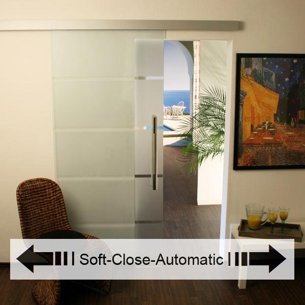 glasschiebet r set 3as775 soft close automatic glasschiebet ren glas schiebet ren. Black Bedroom Furniture Sets. Home Design Ideas