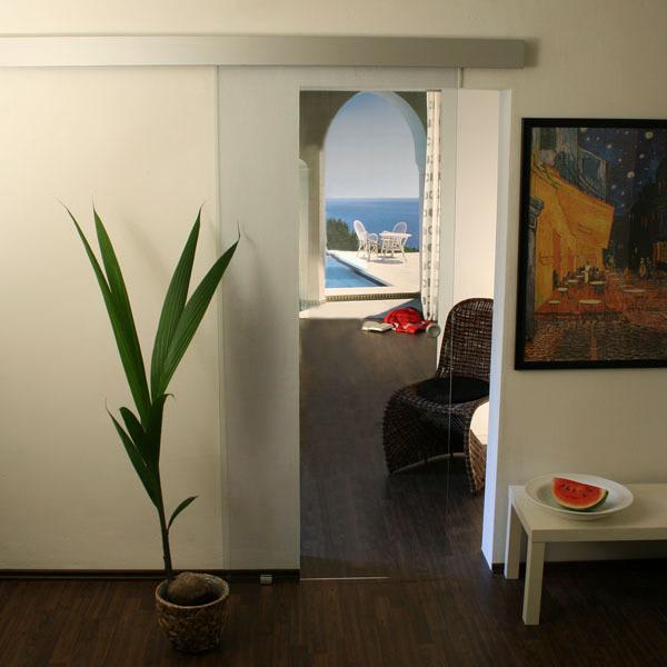 glasschiebet r set 0ag1025 klarglas mit griffmuschel glasschiebet ren schiebet r aus glas. Black Bedroom Furniture Sets. Home Design Ideas