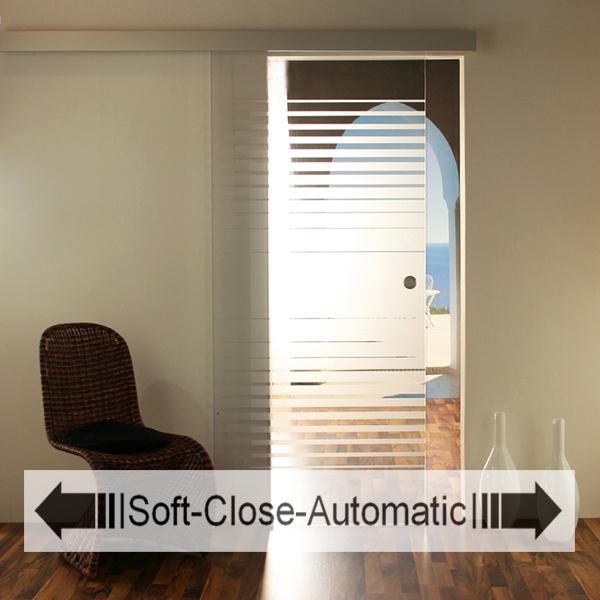 glasschiebet r set 9ag900 soft close automatic glasschiebet ren glas schiebet ren. Black Bedroom Furniture Sets. Home Design Ideas