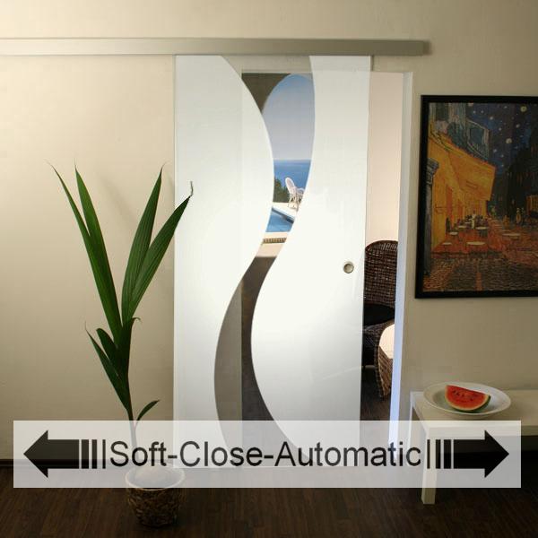 glasschiebet r set 16ag1025 soft close automatic glasschiebet ren glas schiebet ren. Black Bedroom Furniture Sets. Home Design Ideas