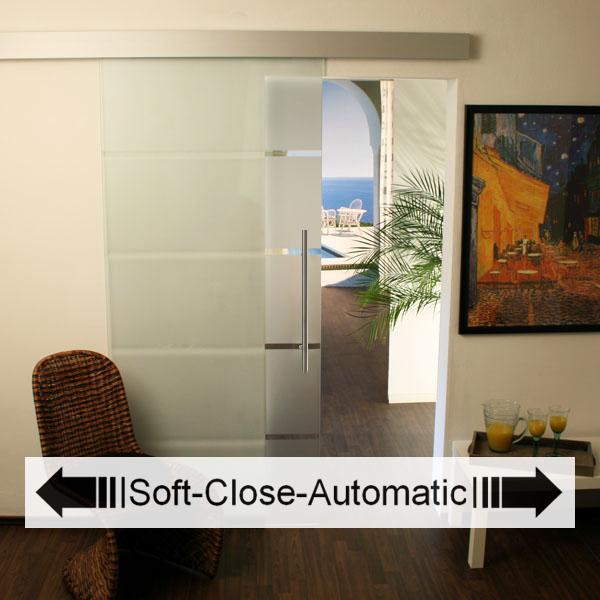 Glasschiebetür-Set 3AS775-Soft-Close-Automatic ...