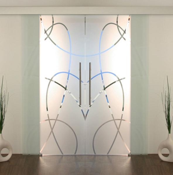 Doppelschiebetür Glas glasschiebetüren 2flügelig, doppel glasschiebetür