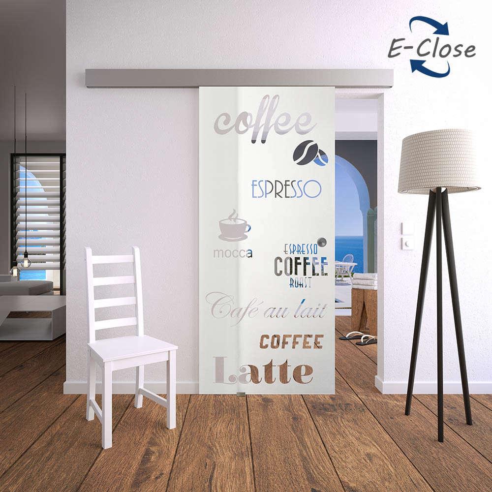 Elektrisches Glasschiebetür-Set 17AG-E-Close für Ihre Küche